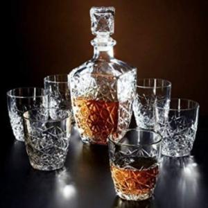 Set Bicchieri Liquore Dedalo Bormioli Rocco 7 Pezzi Vetro Trasparente