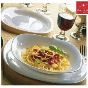 Servizio piatti 18 pezzi Parma Bormioli Rocco quadrato vetro opale bianco