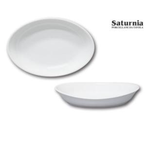 Piatto a Servire Caravella Saturnia Porcellana Bianco Varie Misure