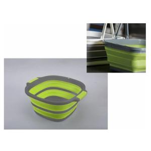 Bacinella Quadrata Pieghevole AD-Trend Silicone e Plastica 36×36 cm h 17 cm