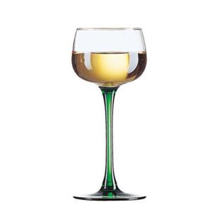 6 Bicchieri Vin Du Rhin Luminarc cl 15,5 Bicchiere Vino Gambo Verde