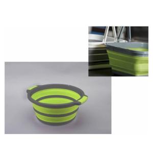 Bacinella Rotonda Pieghevole AD-Trend Silicone e Plastica 37,5 cm h 16,5 cm