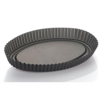 Ruoto Stampo Crostata Ovale Vespa cm 33 Alluminio Antiaderente Torte e Dolci