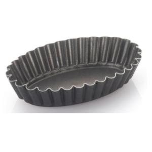 Set 6 Formine Ovale Crostata Brioche Vespa cm 11 Alluminio Antiaderente