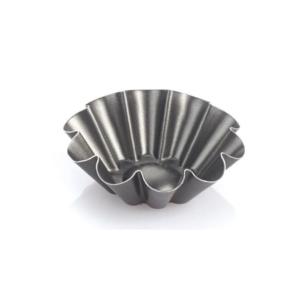 Set 6 Formine Tonda Riccia Fonda  Vespa cm 6,8 Alluminio Antiaderente