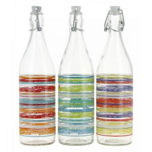 6 Bottiglia Caraibi Cerve 1 Litro Vetro Con Tappo Meccanico