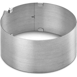 Anello Regolabile Torte Metaltex Acciaio Inox Regolabile da 16 cm a 28 cm
