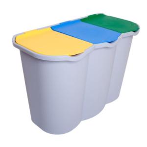 Pattumiera Unica Belli & Forti 3 Scomparti Plastica