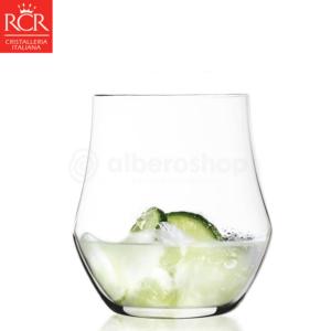 6 Bicchieri Ego cl 39 RCR Acqua Bicchiere Vetro Cristallino Trasparente