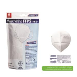5 Mascherine FFP2 FarmaLine Mascherina Altamente Protettiva Senza Valvola